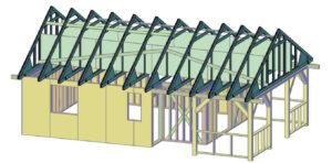 stężenia wiązarów dachu