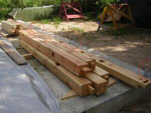 słupy tarasowe - budowa