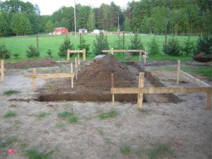 tyczenia geodezyjne na placu budowy